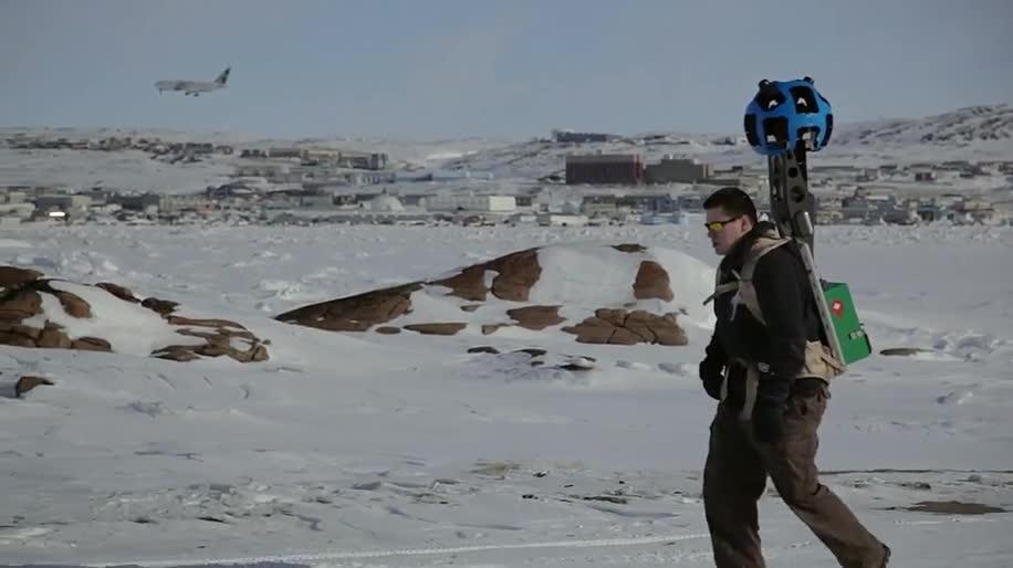 Google, Maps, Google Maps, Street View, Google Street View, Google Earth, Panoramaaufnahme, Trekker, Arktis, Kanadische Arktis, Iqaluit