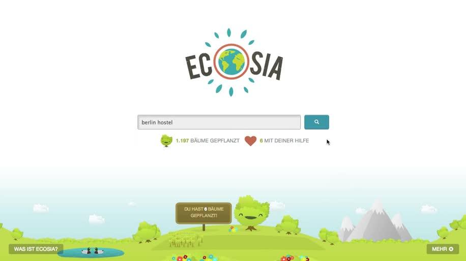 Internet, Suche, Berlin, Startup, grün, Ecosia