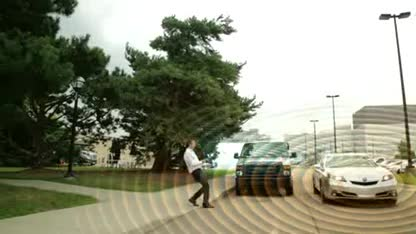 Auto, Warnung, Unfall, Fußgänger, Honda