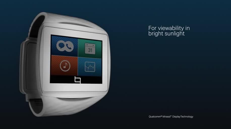 smartwatch, Qualcomm, Uhr, Smart-Watch, Smart Watch, Toq, Mirasol