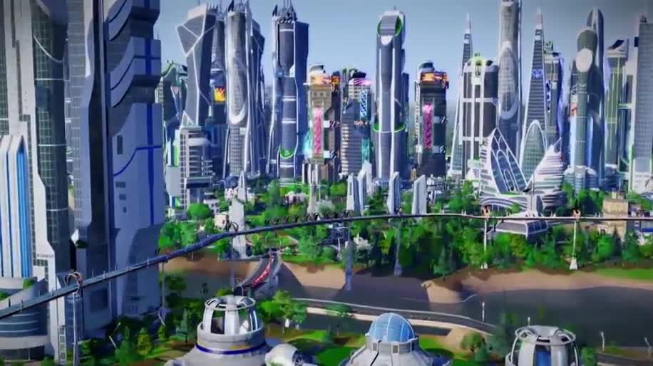 Simcity Ankündigungstrailer Zur Erweiterung Städte Der Zukunft
