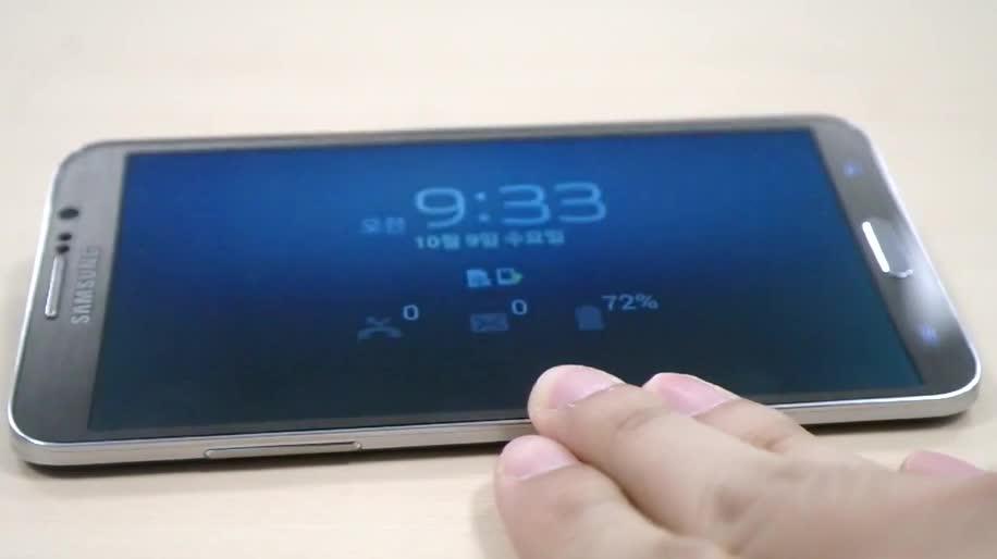 Smartphone, Samsung, Samsung Galaxy, Galaxy, Samsung Galaxy Round, Round, Rolleffekt, Bounce UX, Roll Effect