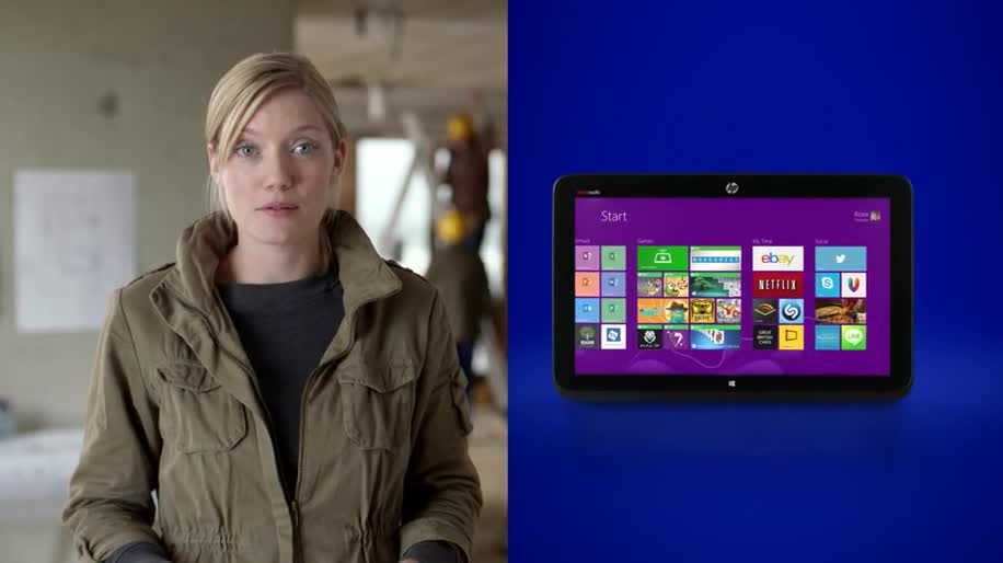 Microsoft, Tablet, Windows 8, Laptop, Werbespot, Hp, Two-in-One-PC, HP Split x2