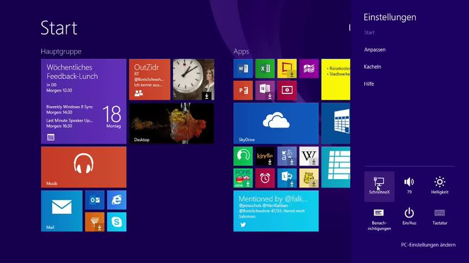 Microsoft, Betriebssystem, Windows, Windows 8, Windows 8.1, Einstellungen