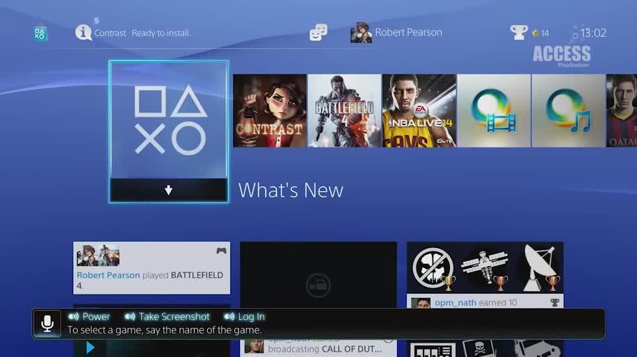 Sony, PlayStation 4, Playstation, PS4, Sony PlayStation 4, Sony PS4, Sprachsteuerung, Spracherkennung