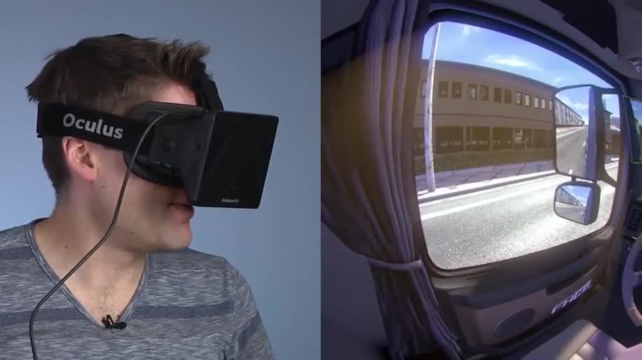 Microsoft, Hands-On, Oculus Rift, Videobrille, Euro Truck Simulator 2, Head Tracking