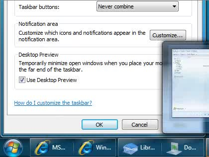Microsoft, Windows 7, Taskleiste, Taskbar, Gruppierungen