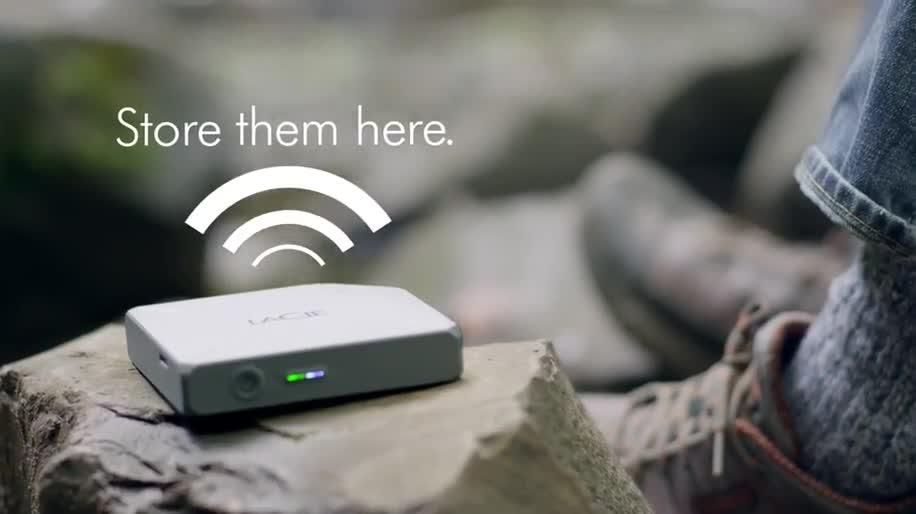 iOS, Festplatte, WiFi, Lacie, Externe, LaCie Fuel