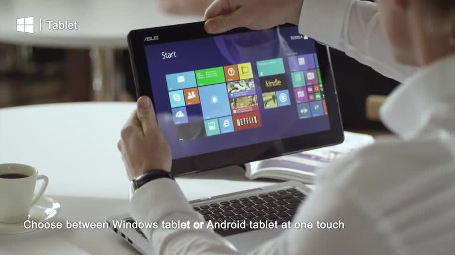 ASUS Transformer Book Duet, Convertible Tablet Notebook Windows and Android