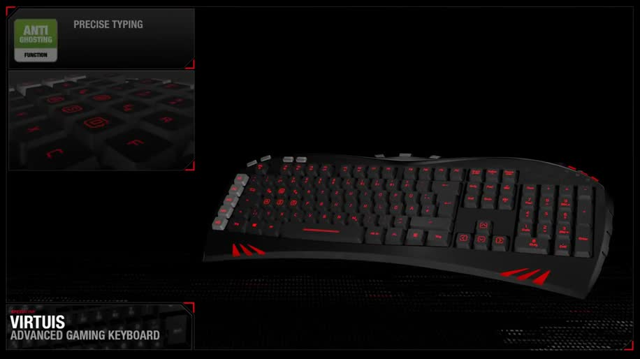Tastatur, Keyboard, Virtuis, Virtuis Advanced Gaming Keyboard, Speedlink