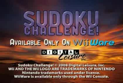Nintendo, Wii, Challenge, Sudoku