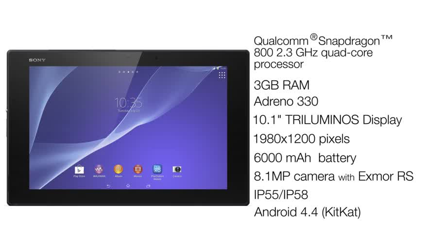 Android, Tablet, Sony, Mwc, Xperia, Android 4.4, Sony Xperia, MWC 2014, Xperia Tablet, Xperia Z2 Tablet, Sony Xperia Z2 Tablet