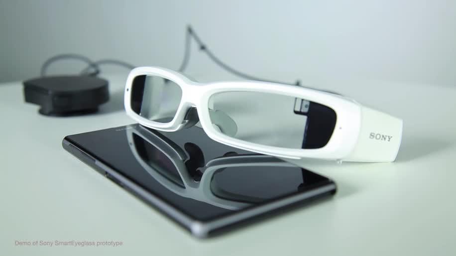 Sony, Mwc, Cyberbrille, Brille, Datenbrille, Konzept, MWC 2014, SmartEyeglass