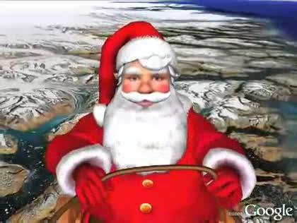 Google, Google Earth, Weihnachtsmann