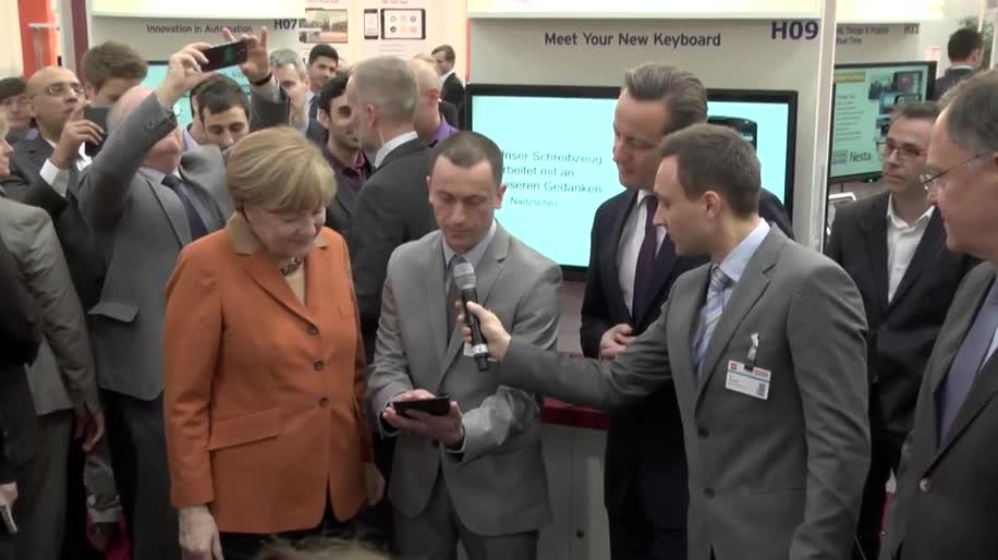 Messe, Cebit, Angela Merkel, Hannover, CeBIT 2014, David Cameron, Eröffnung, Messe Hannover