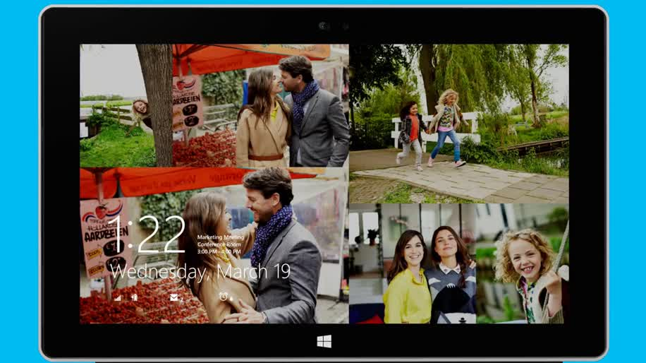 Microsoft, Betriebssystem, Windows, Windows 8, Apps, Windows 8.1, Anmeldung, Windows 8.1 Update 1, Startbildschirm, Diashow, Personalisierung, Bildcode