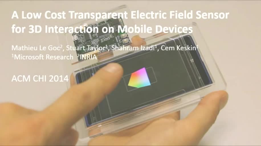 Microsoft, Smartphone, Nokia, Microsoft Research, Gesten, Gestensteuerung, Bewegungserkennung, 3D Sensor, EFS, Electric Field Sensor