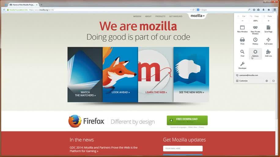 Browser, Firefox, Mozilla, Mozilla Firefox, Tabs, Firefox Sync, Firefox 29