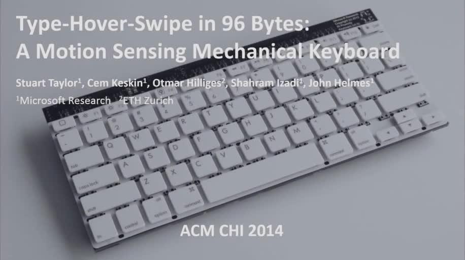 Microsoft, Forschung, Tastatur, Bewegungssteuerung, Keyboard, Microsoft Research, Research, Gesten, Gestensteuerung, Infrarot, Bewegungserkennung, MSR, Infrarotsensor