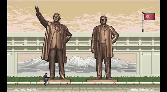 Trailer, Shooter, Kim Jong-un, Glorious Leader, Moneyhorse Games