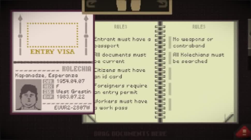 Trailer, Simulation, Papers Please, 3909