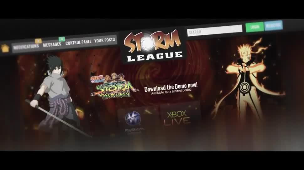 Trailer, Namco Bandai, Prügelspiel, Naruto Shippuden, Naruto, Naruto Shippuden: Ultimate Ninja Storm Revolution, Storm League