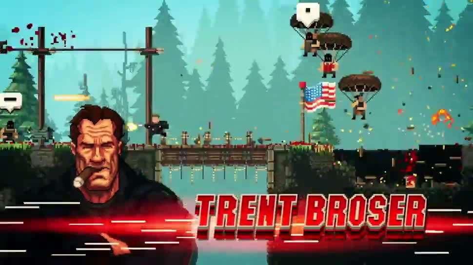 Trailer, actionspiel, Steam, Kostenlos, Devolver Digital, Broforce, The Expendabros, The Expendables 3