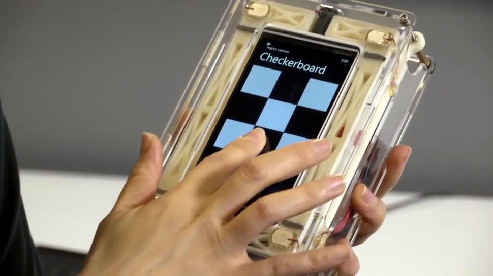 Microsoft, Smartphone, Tablet, Forschung, Touchscreen, Wissenschaft, Touch, Microsoft Research, Research, piezoelektrisch
