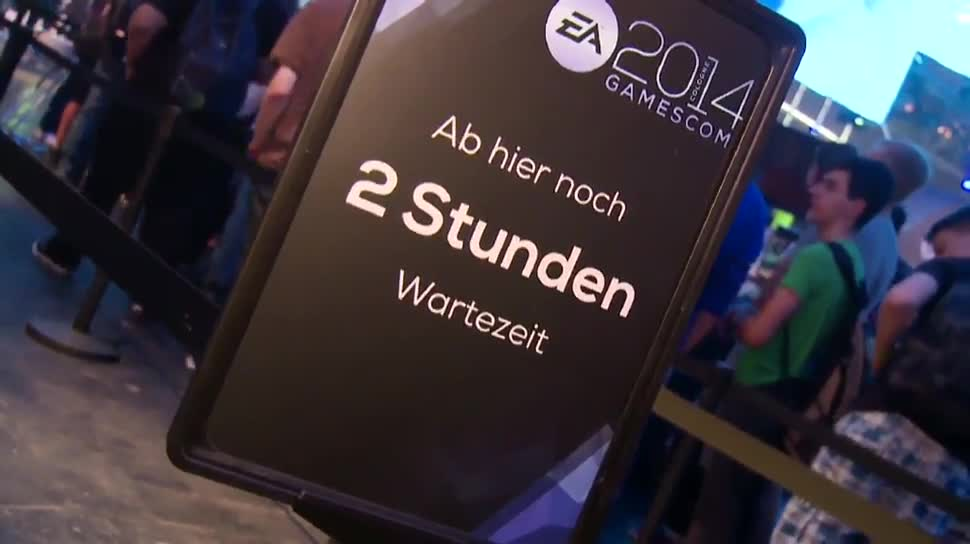 Gamescom, Gamescom 2014, Besucher, Warteschlange, Warten, Testspiele