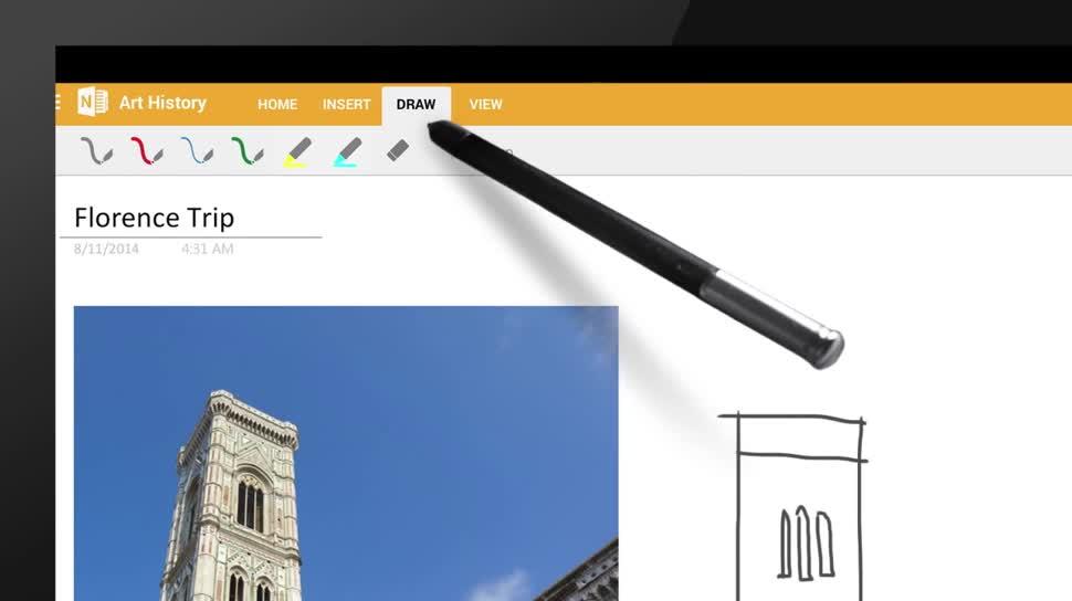 Microsoft, Android, App, Cloud, Cloudsynchronisation, OneNote, Notizen, Notizbuch