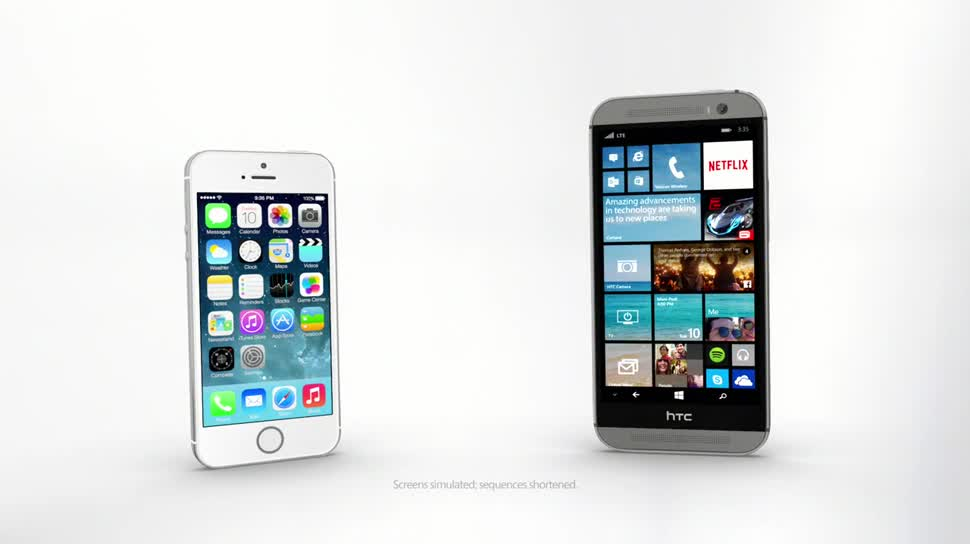 Microsoft, Smartphone, Apple, Windows Phone, Htc, Windows Phone 8, Windows Phone 8.1, Cortana, iPhone 5, WP8, Siri, iPhone 5S, Apple iPhone 5S, HTC One M8, HTC One (M8), HTC One M8 für Windows