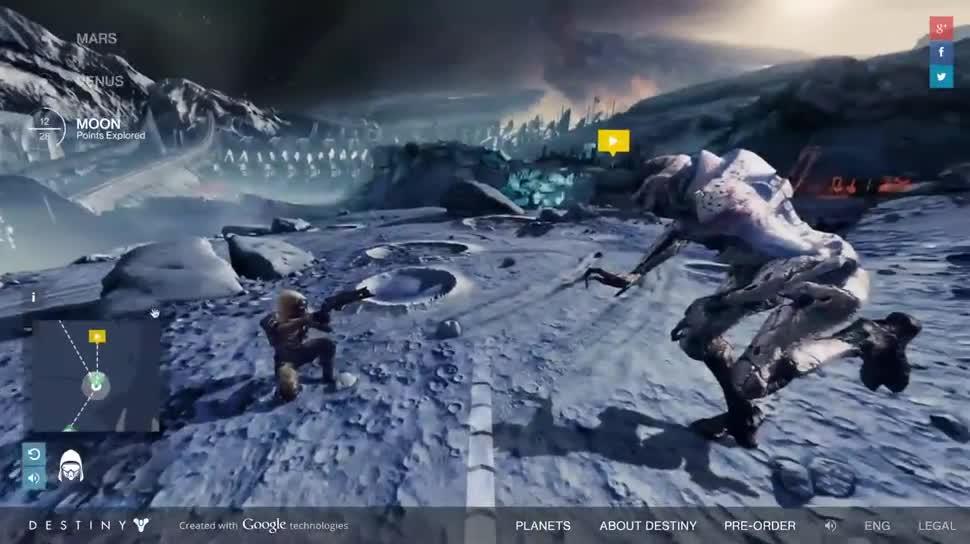 Trailer, Google, actionspiel, Activision, Bungie, Destiny, Destiny Planet View