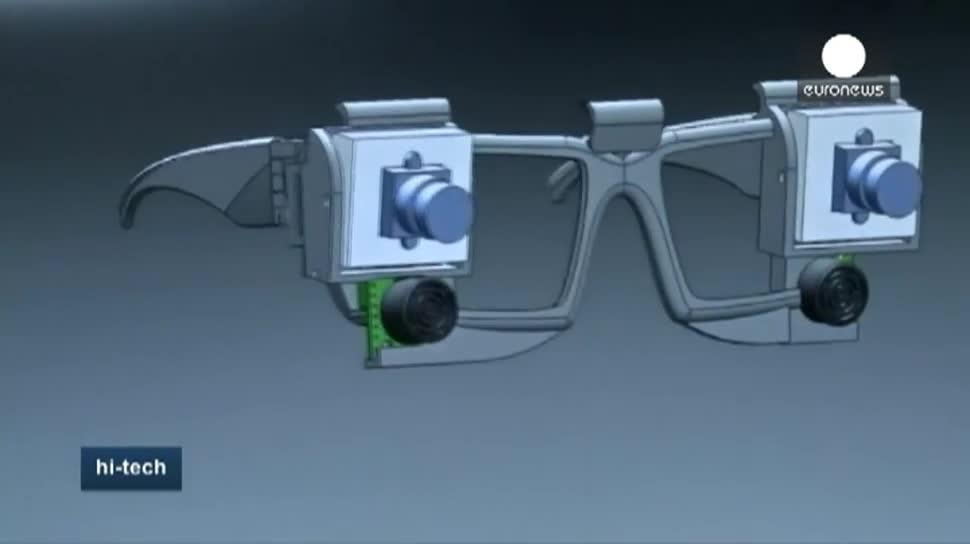Gps, Sehbehinderte, sprechende Brille, Guadalajara, Ultraschallsensoren, Smart Guide