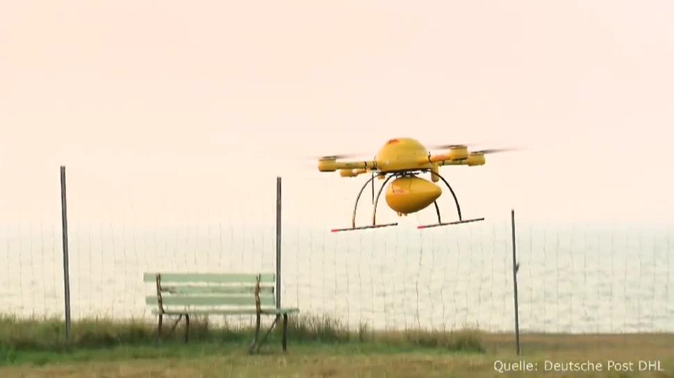 Drohne, Post, Deutsche Post, DHL, Apotheke, Medikamente, Nordseeküste, Paket-Drohne, Juist