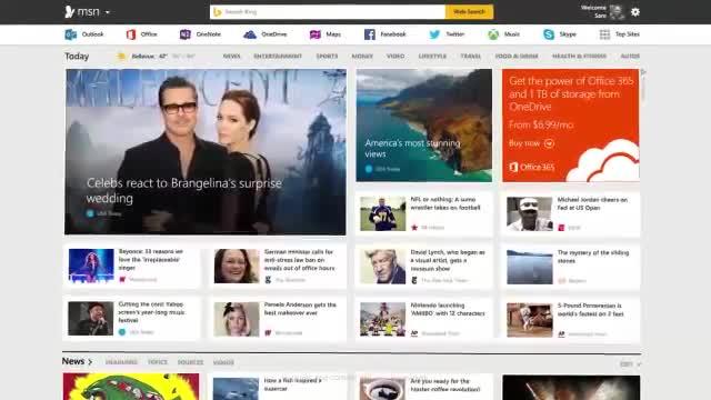 Microsoft, Nachrichten, Msn, Website