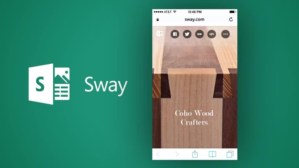 beispiel einer sway prsentation ber das unternehmen coho wood crafters - Unternehmensprasentation Beispiele