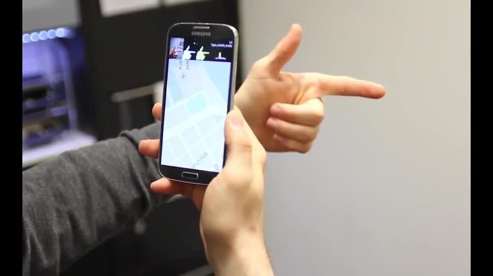 Smartphone, App, Forschung, Informatik, Gestensteuerung, Bewegungserkennung
