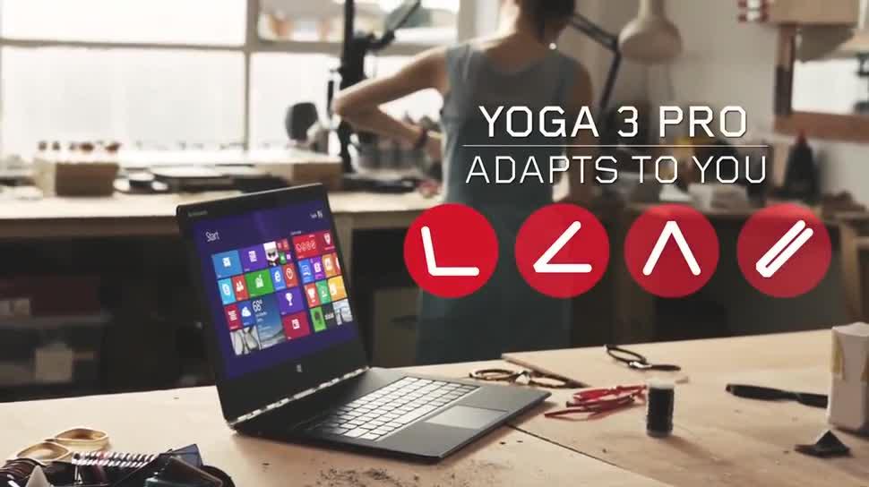 Notebook, Intel, Laptop, Lenovo, Ultrabook, Yoga, Lenovo Yoga, Core M, Yoga 3 Pro, Lenovo Yoga 3 Pro