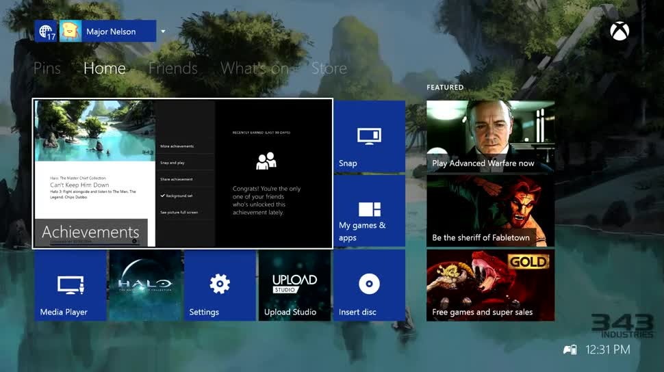 Xbox Startseite