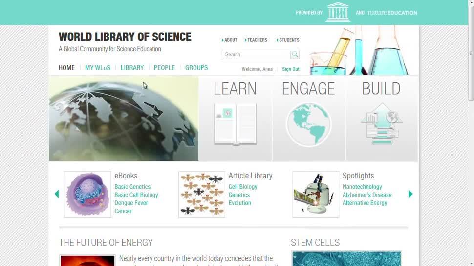Wissenschaft, Plattform, Datenbank, Unesco