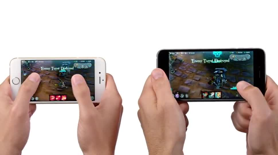 Smartphone, Apple, Iphone, Werbespot, iPhone 6, iPhone 6 Plus, Apple iPhone 6, Apple iPhone 6 Plus, MOBA, A8, Apple a8, Vainglory