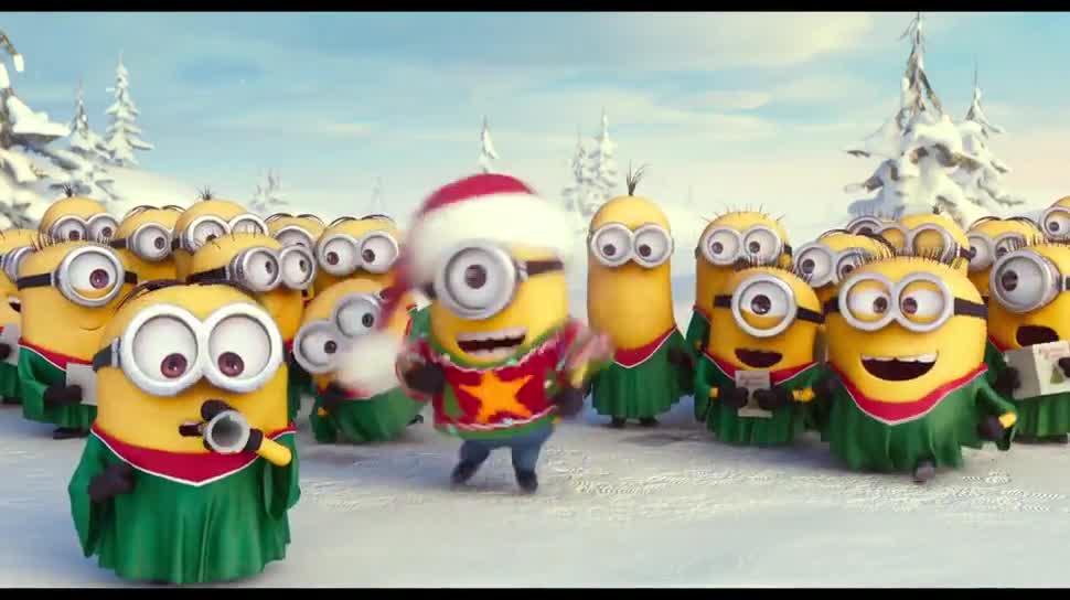 Die Minions singen Weihnachtslieder