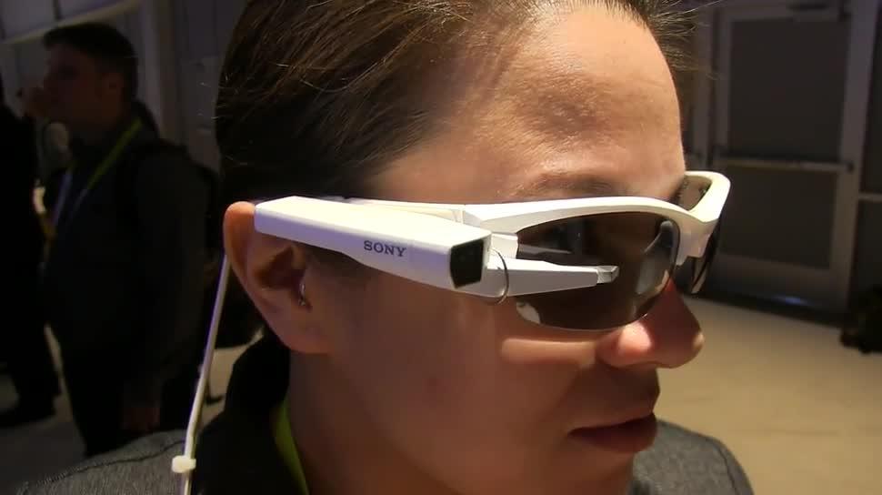 Sony, Hands-On, Ces, Brille, Datenbrille, Ces 2015, Smart Eyeglass Attach