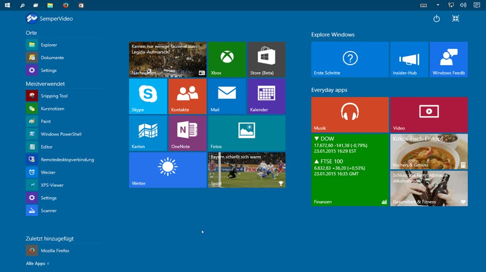 Microsoft, Betriebssystem, Windows, Windows 10, Windows Threshold, Cortana, Windows 9, SemperVideo