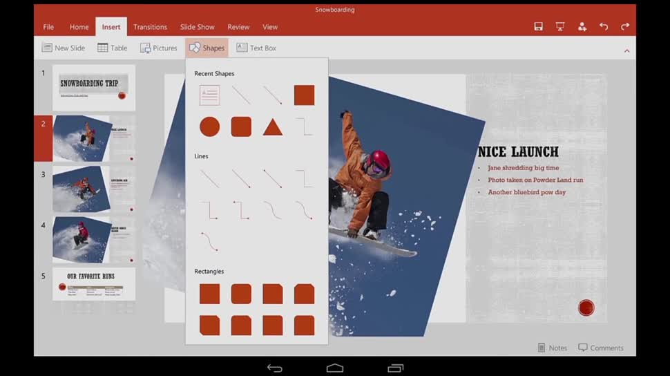 Microsoft, Tablet, Office, Powerpoint, Office für Android, Office for Android, PowerPoint für Android, PowerPoint for Android