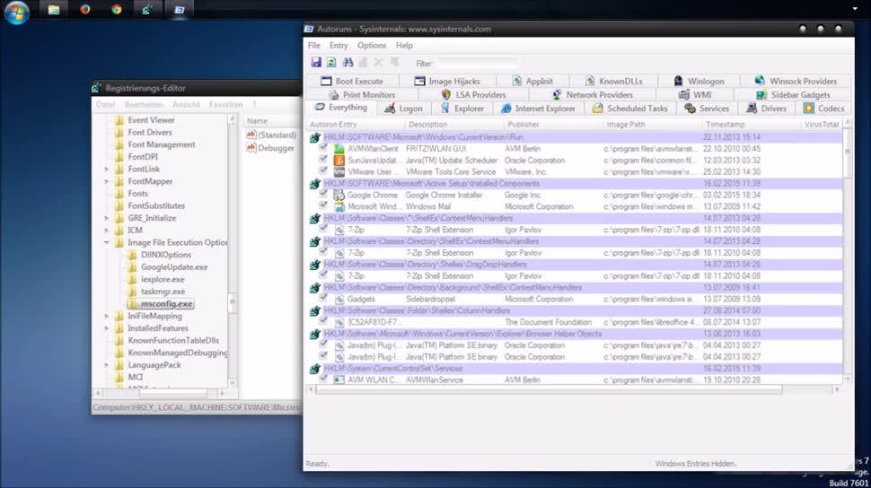 Betriebssystem, Windows, SemperVideo, Registry, Programme
