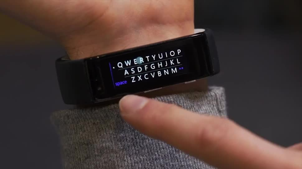 Microsoft, Update, smartwatch, Tastatur, Sprachsteuerung, Spracherkennung, Wearables, Microsoft Research, Fitness, Fitness-Tracker, Spracheingabe, Fitnesstracker, Microsoft Band