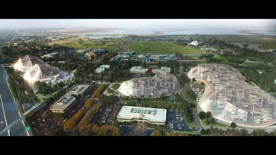 Google, Hauptquartier, Gebäude, Silicon Valley, Mountain View, Google Campus, Unternehmenssitz