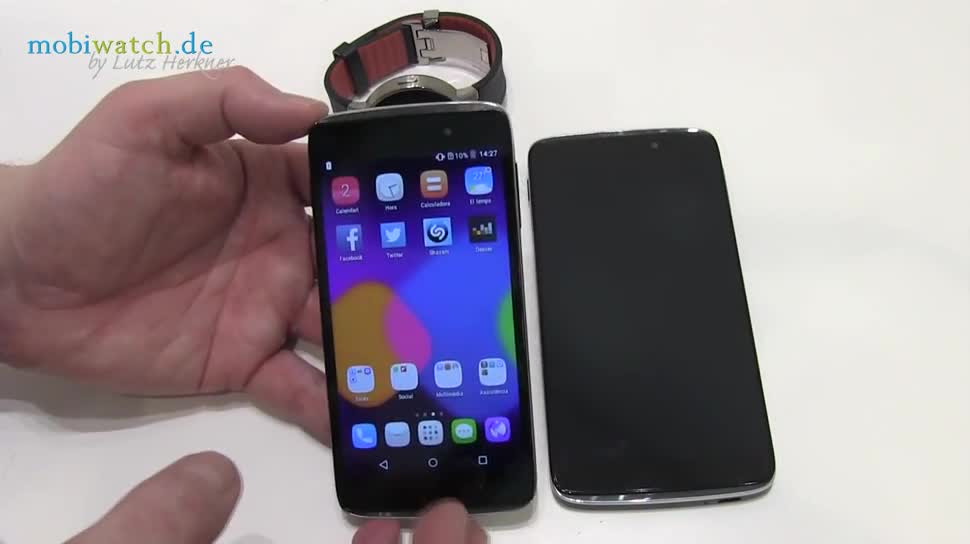 Smartphone, Hands-On, Mwc, Mobile World Congress, Android 5.0, MWC 2015, Mobile World Congress 2015, Alcatel One Touch Idol 3, Alcatal