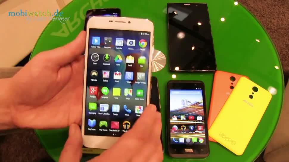 Mwc 2015 Archos Stellt Sechs Smartphones Von 45 Bis 63 Zoll Vor